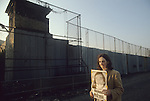 Hunger striker  Raymond McCreesh poster woman protesting out side of Long Kesh prison. 1981