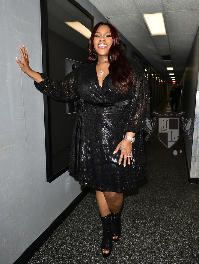 MIAMI, FLORIDA - FEBRUARY 08: R&B singer Kelly Price backstage during the Pre Valentine's Love R&B Tour at James L. Knight Center on February 08, 2020 in Miami, Florida.  ( Photo by Johnny Louis / jlnphotography.com )