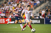 Xu Yanlu (15) of China PR (CHN). The United States (USA) women defeated China PR (CHN) 4-1 during an international friendly at PPL Park in Chester, PA, on May 27, 2012.