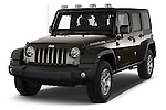 2016 JEEP Wrangler-Unlimited Rubicon 5 Door SUV Angular Front stock photos of front three quarter view