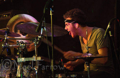 10 Jan 2015 - STOWMARKET, GBR - Jack McSloy of Renegade Twelve on drums performs at the John Peel Centre for Creative Arts in Stowmarket, Suffolk, Great Britain (PHOTO COPYRIGHT © 2015 NIGEL FARROW, ALL RIGHTS RESERVED)