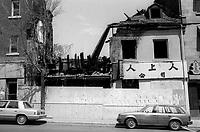 Le Quartier de Montreal dans les années 80<br /> <br /> incendie, 22 mai 1985