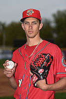 Harrisburg Senators pitcher A.J. Cole (19) poses for a photo before a game against the New Britain Rock Cats on April 28, 2014 at Metro Bank Park in Harrisburg, Pennsylvania.  Harrisburg defeated New Britain 9-0.  (Mike Janes/Four Seam Images)