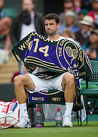 England, London, 28.06.2014. Tennis, Wimbledon, AELTC, Grigor Dimitrov (BUL)<br /> Photo: Tennisimages/Henk Koster