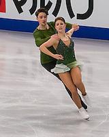 Boston, Massachusetts - March 31, 2016: ISU World Figure Skating Championships Boston 2016 - Dance FS, at TD Garden.