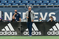 FOXBOROUGH, MA - AUGUST 7: Orlando City B coach Marcelo Neveleff during a game between Orlando City B and New England Revolution II at Gillette Stadium on August 7, 2020 in Foxborough, Massachusetts.