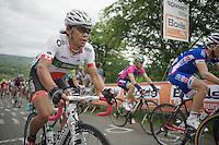 Japanese National Champion Arashiro Yukiya (JAP/Europcar) up La Redoute (max 22%) in the peloton<br /> <br /> Liège-Bastogne-Liège 2014