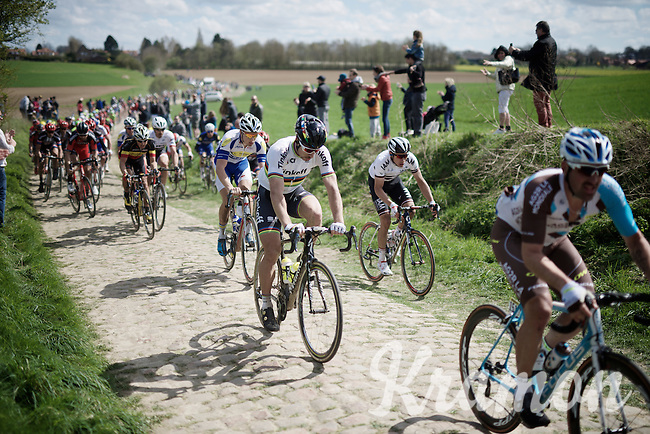 World Champion Peter Sagan (SVK/Tinkoff) in sector 21: Quérénaing to Maing (2.5km)<br /> <br /> 114th Paris-Roubaix 2016(