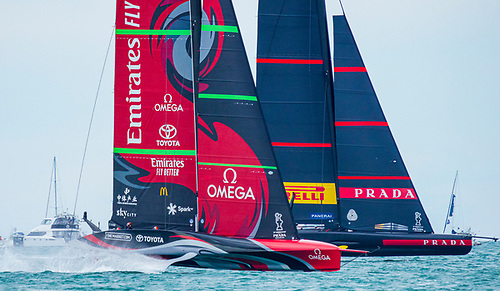 The opening day of the 36th America's Cup has delivered no guide. Instead, it had proved just how closely matched these two teams are and how the Cup looks unlikely to be a walkover, for either Emirates Team New Zealand or Luna Rossa Prada Pirelli