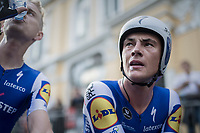 Yves Lampaert (BEL/Quick Step Floors) post-finish<br /> <br /> Men's Team Time Trial<br /> <br /> UCI 2017 Road World Championships - Bergen/Norway