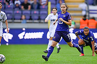 Stefania Vatafu (10) of Anderlecht pictured during a female soccer game between RSC Anderlecht Dames and Sporting Charleroi  on the second matchday of the 2021 - 2022 season of Belgian Womens Super League , saturday 28 th of August 2021  in Brussels , Belgium . PHOTO SPORTPIX   DAVID CATRY