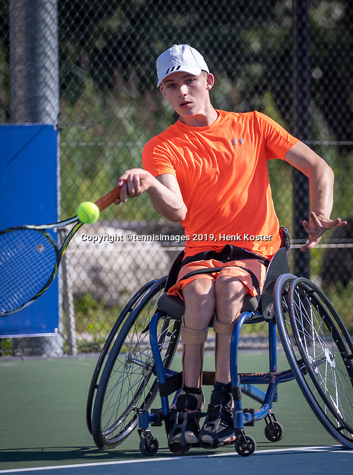 Amstelveen, Netherlands, 19 Augustus, 2020, National Tennis Center, NTC, NKR, National Junior Wheelchair Tennis Championships, Maarten ter Hofte (NED)<br /> Photo: Henk Koster/tennisimages.com