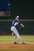 AZL Padres starting pitcher MacKenzie Gore (25) delivers a pitch to the plate against the AZL Indians on August 30, 2017 at Goodyear Ball Park in Goodyear, Arizona. AZL Padres defeated the AZL Indians 7-6. (Zachary Lucy/Four Seam Images)