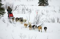 Mike Williams on Trail Leaving Rainy Pass Chkpt AK 2005 Iditarod