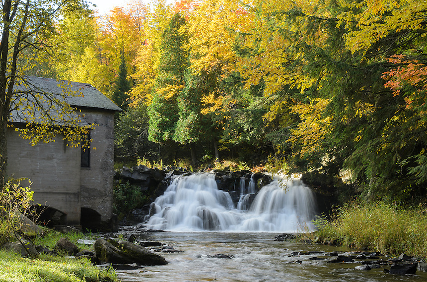 Autumn splendor at Power House Falls in L'Anse, MI.