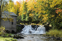 Autumn splendor at Power House Falls in L'Anse, MI.