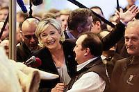 MARINE LE PEN AU SALON DE L'AGRICULTURE A PARIS, FRANCE - 28/02/2017