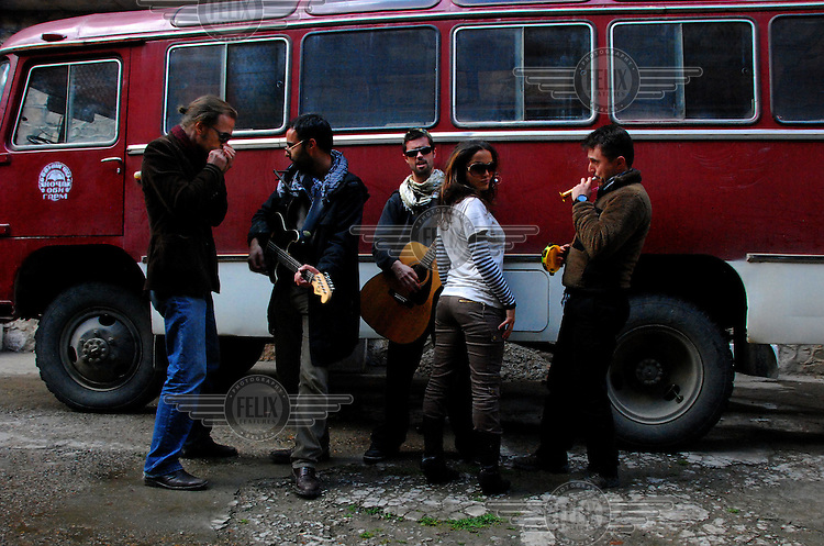 """Maral with the Kabul based band """"White City"""" on a tour of Tajikistan."""