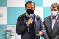 Campinas (SP), 27/05/2021 - Doria-SP - O Governador João Doria realiza nesta quinta-feira (27) a entrega de vouchers de mais de 14 mil cestas básicas do programa Alimento Solidário no município de Campinas. Ao todo, 21 municípios da região serão beneficiados. O evento foi realizado no Salão Vermelho da Prefeitura de Campinas e teve a participação de prefeitos da RMC,