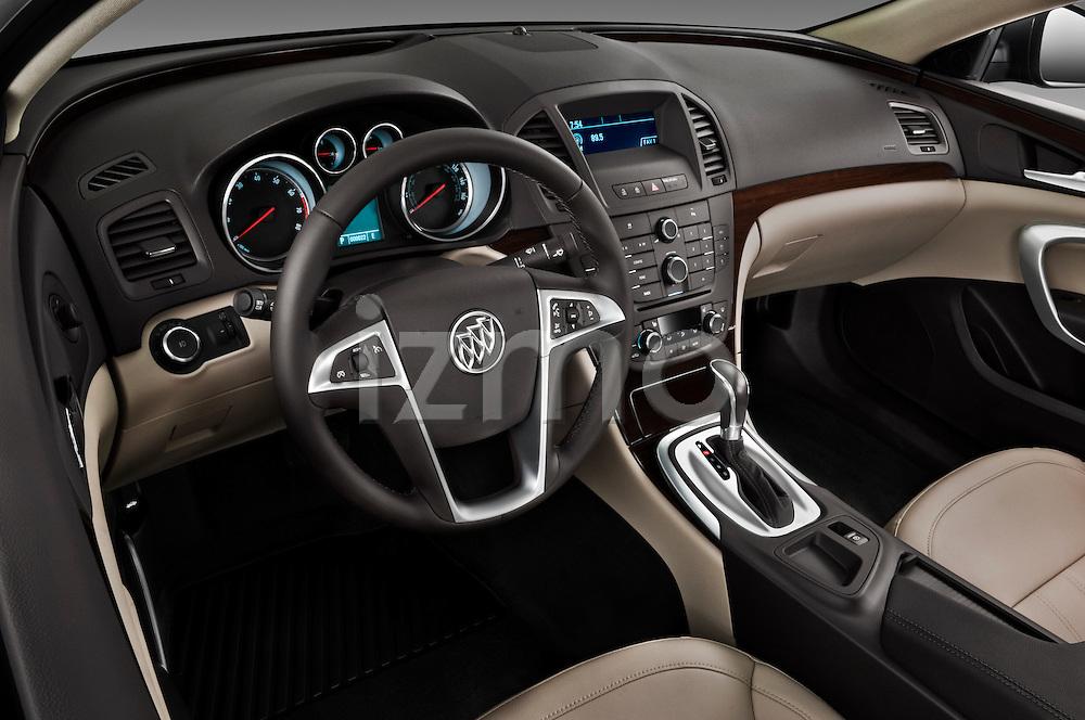 High angle dashboard view of a 2011 Buick Regal CXL Sedan