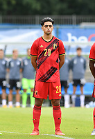 Belgian Amine Essabri pictured during a friendly soccer game between the national teams Under19 Youth teams of Belgium and Germany on tuesday 8 th of September 2020  in Genk , Belgium . PHOTO SPORTPIX.BE | SPP | DAVID CATRY