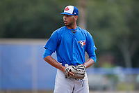 Toronto Blue Jays relief pitcher Kelyn Jose (83) gets ready to deliver a pitch during a Florida Instructional League game against the Pittsburgh Pirates on September 20, 2018 at the Englebert Complex in Dunedin, Florida.  (Mike Janes/Four Seam Images)