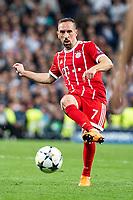 Bayern Munich Franck Ribery during Semi Finals UEFA Champions League match between Real Madrid and Bayern Munich at Santiago Bernabeu Stadium in Madrid, Spain. May 01, 2018.  *** Local Caption *** © pixathlon<br /> Contact: +49-40-22 63 02 60 , info@pixathlon.de