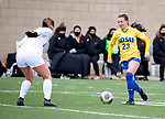 BROOKINGS, SD - MARCH 14: Eden Brooker #23 from South Dakota State controls the ball against Denver during their match at Dana J. Dykhouse Stadium on March 14, 2021 in Brookings, South Dakota. (Photo by Dave Eggen/Inertia)