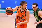 Liga ENDESA 2020/2021. Game: 11.<br /> Club Joventut Badalona vs Valencia Basket: 80-91.<br /> Sam Van Rossom vs Albert Ventura.