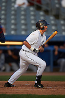 Connecticut Tigers outfielder Tanner Donnels (22) at bat during the first game of a doubleheader against the Brooklyn Cyclones on September 2, 2015 at Senator Thomas J. Dodd Memorial Stadium in Norwich, Connecticut.  Brooklyn defeated Connecticut 7-1.  (Mike Janes/Four Seam Images)