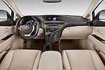 Stock photo of straight dashboard view of a 2015 Lexus RX 350 5 Door Suv 2WD Dashboard