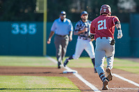 STANFORD, CA - JUNE 6: Tim Tawa during a game between UC Irvine and Stanford Baseball at Sunken Diamond on June 6, 2021 in Stanford, California.