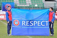 Russia U19 - Belgium U19 : UEFA FLAG Respect.foto DAVID CATRY / Nikonpro.be