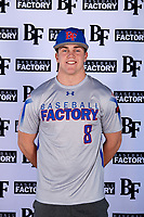 Paul Moore (8) of Stone Bridge High School in Ashburn, Virginia during the Baseball Factory All-America Pre-Season Tournament, powered by Under Armour, on January 12, 2018 at Sloan Park Complex in Mesa, Arizona.  (Mike Janes/Four Seam Images)