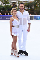 """Stephanie Waring and Sylvain Longchambon<br /> at the """"Dancing on Ice"""" launch photocall, natural History Museum, London<br /> <br /> <br /> ©Ash Knotek  D3365  19/12/2017"""