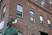 Mill Girl Statue in Manchester, New Hampshire USA. This statue is a dedication to all 19th century working women.
