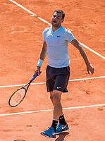 Paris, France, 27 May, 2018, Tennis, French Open, Roland Garros, Grigor Dimitrov (BUL)<br /> Photo: Henk Koster/tennisimages.com