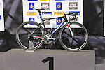 John Degenkolb's (GER) Giant-Alpecin winning Giant bike at the end of the 2015 Paris-Roubaix cycle race held over the cobbled roads of Northern France. 12th April 2015.<br /> Photo: Eoin Clarke www.newsfile.ie