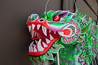 Green Dragon Head, Dragon Fest 2015, Chinatown, Seattle, Washington, USA
