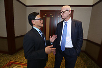 Feb. 27, 2020. Anaheim. CA. |Dr. Ken Chang with Dr. Rob Hawes. | Photos by Jamie Scott Lytle. Copyright.
