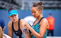 Den Bosch, Netherlands, 12 June, 2018, Tennis, Libema Open, Womans doubles: Lesley Kerkhove (NED) (R) and Lidziya Marozava (BLR)<br /> Photo: Henk Koster/tennisimages.com