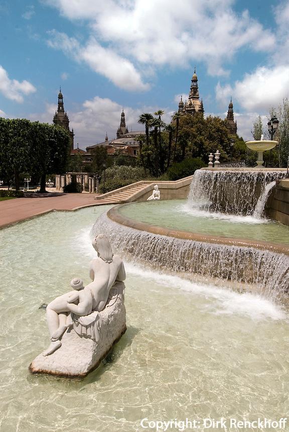 Spanien, Barcelona, Jardins de Joan Maragall auf dem Montjuic