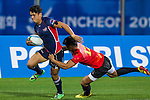 Philippines plays China during the17th Asian Games 2014 Rugby Mens Sevens tournament on October 02, 2014 at the Namdong Asiad Rugby Field in Incheon, South Korea. Photo by Alan Siu / Power Sport Images