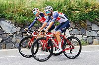 July 12th 2021, Andorre-la-Vielle, France; BERNARD Julien (FRA) of TREK - SEGAFREDO and ELISSONDE Kenny (FRA) of TREK - SEGAFREDO during rest day 2 of the 108th edition of the 2021 Tour de France cycling race on July 12