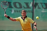 August 24, 2014, Netherlands, Amstelveen, De Kegel, National Veterans Championships, Jeroen Bok (NED)<br /> Photo: Tennisimages/Henk Koster