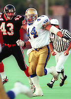Leon Hatziioannou Winnipeg Blue Bombers 1993. Photo F. Scott Grant