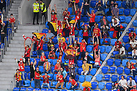 ST PETERSBURG, RUSSIA - JUNE 12 :  fans of Belgium are celebrating the goal pictured during the 16th UEFA Euro 2020 Championship Group B match between Belgium and Russia on June 12, 2021 in St Petersburg, Russia, 12/06/2021 <br /> Photo Photonews / Panoramic / Insidefoto <br /> ITALY ONLY