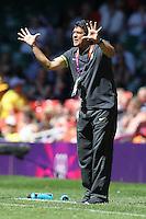 Brazil Coach Jorge BARCELLOS - New Zealand Women vs Brazil Women - Womens Olympic Football Tournament London 2012 Group E at the Millenium Stadium, Cardiff, Wales - 28/07/12 - MANDATORY CREDIT: Gavin Ellis/SHEKICKS/TGSPHOTO - Self billing applies where appropriate - 0845 094 6026 - contact@tgsphoto.co.uk - NO UNPAID USE.