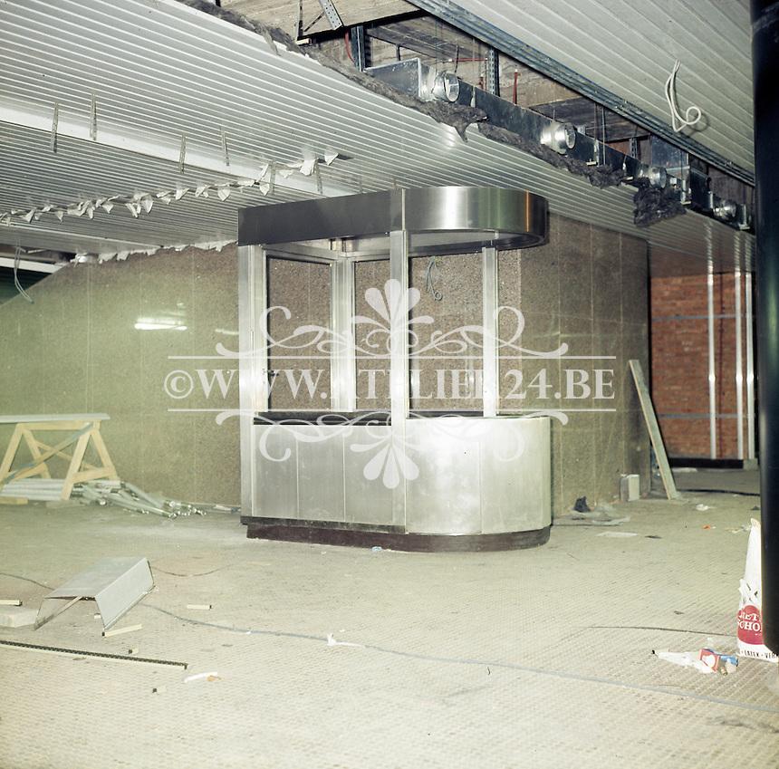 December 1974. Bouw premetro in Antwerpen.