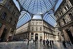 Italy, Campania, Naples: Interior of Galleria Umberto 1st shopping arcade, erected in 1887 | Italien, Kampanien, Neapel: Galleria Umberto I., Einkaufspassage erbaut 1887